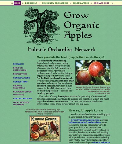 Holistic Orchardist Network: Grow Organic Apples -- website design and maintenance by Sienna M Potts